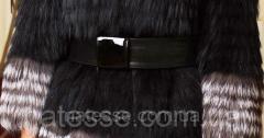 Пояс с кожаной пряжкой черный