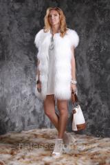 Жилет из белой испанской ламы