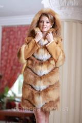 Шуба  жилет из лисы  Fox  fur coat and vest