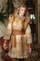 Меховое пальто жилет жилетка из лисы