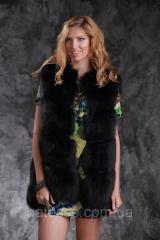 Vest of black Finnish fox SAGA diagonal