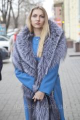 Fur cape a stole from the silver fox of silver fox