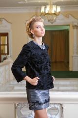 Пиджак из каракульчи Swakara черный