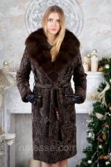 Fur coat from Swakara broadtail