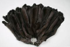 Шкуры соболя баргузинского темные, выделанные,