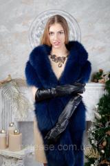 Blue fur stole from the Finnish polar fox