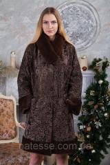 """Меховое пальто из каракульчи swakara """"Милисента"""""""