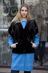 """Жилет из датской норки """"Кимано"""" real mink fur vest gilet"""