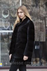 "Норковая шуба ""Ульяна"" из норки Saga Royal Real mink fur coats jackets"