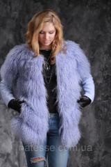 Полушубок куртка жилет из испанской ламы и кожи теленка