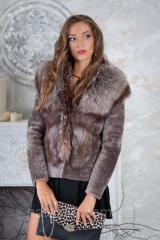 """Short fur coat vest from a muton and the silver fox of """"Myrrh"""