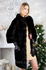 Шуба из норки BlackGlama длинная Real mink fur coats jackets