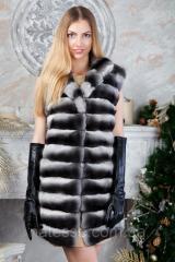"""Жилет из шиншиллы """"Эвридика"""" Natural chinchilla fur vest gilet"""