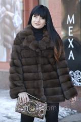 """Шуба полушубок из российского соболя баргузин """"Роял"""" sable jacket fur coat"""