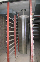 Fan of drying of a brick rotalser, rotomikser