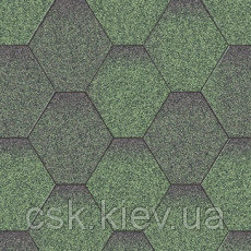 Битумная черепица Мозаика Зеленая микс