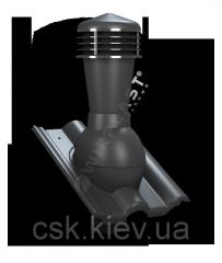 Вентиляционный выход Tile неутепленный Ø110 для керамической кровли К56