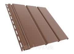 Панель соффит коричневая