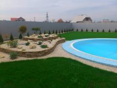 Строительство переливных бассейнов