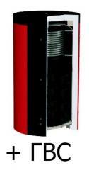 Теплоаккумулятор d 25мм ЕАI-10-3500-2/180 KUYDYCH ГВС 1 т/о нерж. сталь без изоляции
