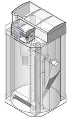 Установка биологической очистки сточных вод в коттеджах EcoTron 5HS 0,8 м3/сутки