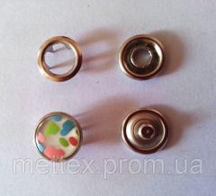 Кнопка 10,5 мм жемчужина с рисунком № 3