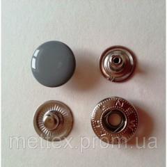 Кнопка №54-12,5 мм эмаль (№ 523) серая