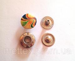 Кнопка № 54-12.5 мм эмаль с рисунком № 3