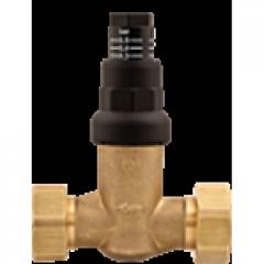 Перепускной клапан, прямой, болтовое с двух сторон, плоское уплотнение с накидной гайкой 3/4 42384