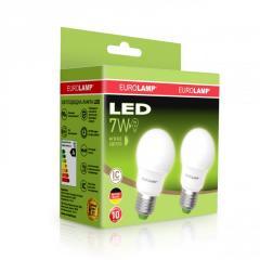 Промо-набор Eurolamp LED A50 7W E27 3000K