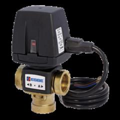 3-ходовой переключающий клапан AFRISO VZD161 Rp 3/4; 20 DN; 6.0 Kvs, встроенный кабель 43080100