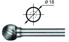 Борфреза сферическая D Ø18 мм.