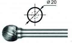 Борфреза сферическая D Ø20 мм.