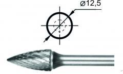 Борфреза гиперболическая с точечным торцом G Ø12,5 мм.
