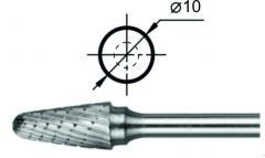 Борфреза сфероконическая L Ø10 мм.