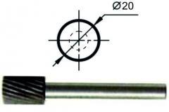 Борфреза цилиндрическая А Ø20 мм., нормальной точности