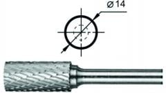 Борфреза цилиндрическая с заточенным торцом АТ Ø14 мм.