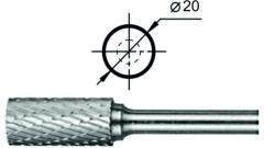 Борфреза цилиндрическая с заточенным торцом АТ Ø20 мм.
