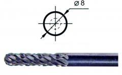Борфреза сфероцилиндрическая С1 Ø8 мм.