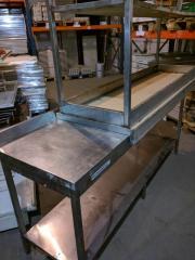 Стол из нержавейки бу 1,9м, разделочный стол из