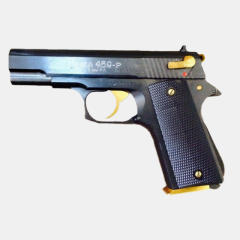 Steel traumatic gun 459-P ERMA (gold details)