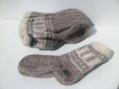Вовняні шкарпетки в'язані