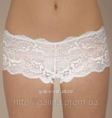 Трусы-шорты женские кружевные Galina, код ART-01