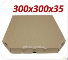 Коробка под пиццу, 30 см, бурый