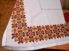Tablecloth embroidered (square) Autumnal Rhapsody