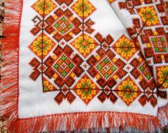 Rhapsody otoño mantel bordado con flecos