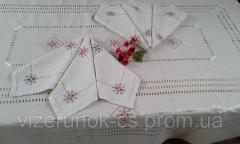Handmade tablecloth with napkins Marsala
