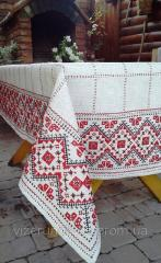 Embroidered tablecloth with napkins in the Ukrainian style Festive