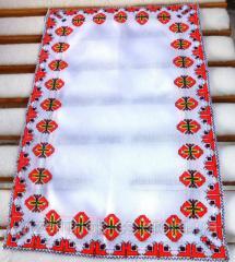 Tissu brodé de Pâques