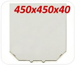 Коробка под пиццу, 45 см, белая